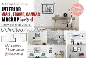 Room Mockup Frame and Canvas Bundle