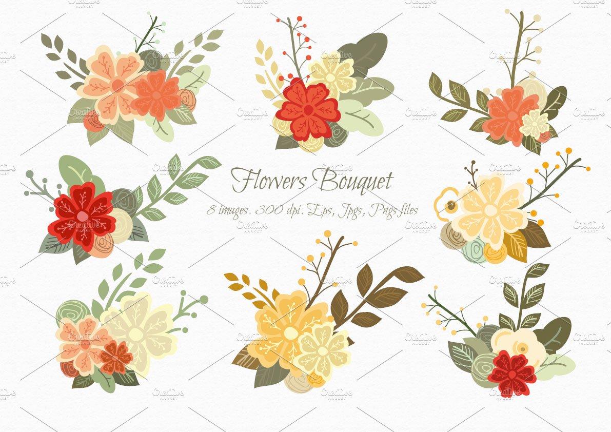 Flowers Bouquet Illustrations Creative Market