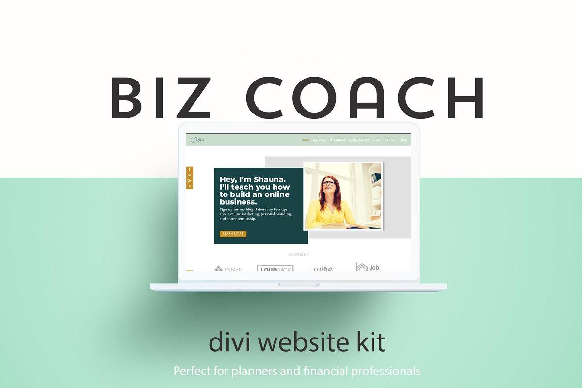 Biz Coach - A Divi Website Builder