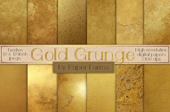 Distressed Gold Textures