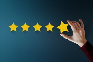 Customer Giving Five Star Rating