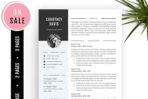 3 Pages Resume template CV Template