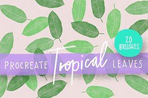 Procreate Tropical Leaves Brush Kit