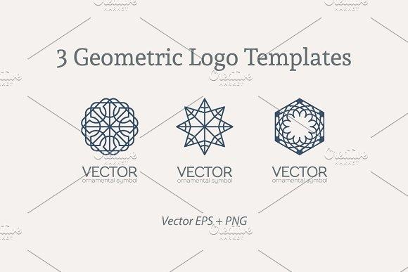3 Geometric Logo Templates