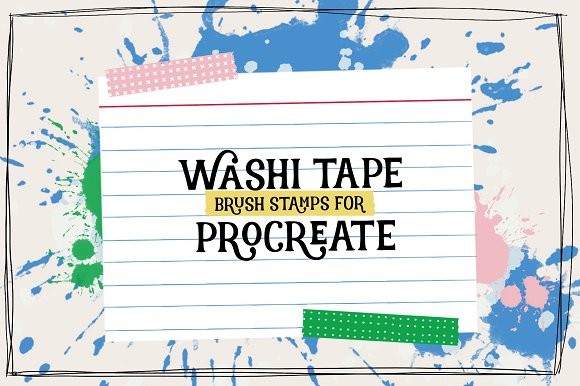 Washi Tape Brush Stamps