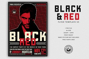 Black and Red Flyer Template V3