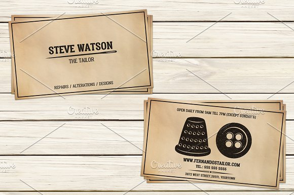 Tailor Business Card Template I