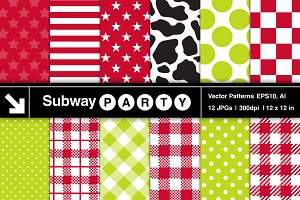 Vector Country Picnic Patterns
