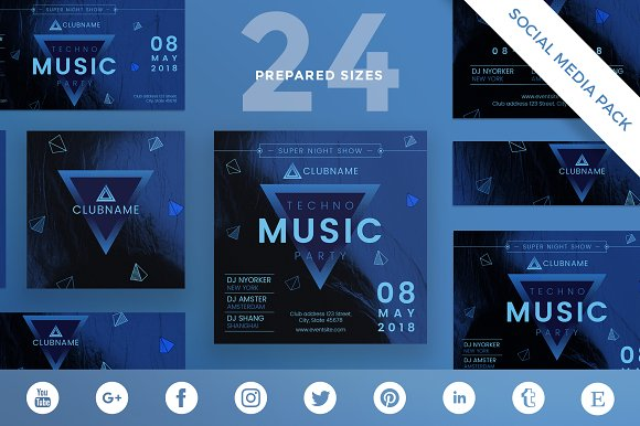 Social Media Pack Music Party