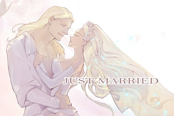 Just Married Young Couple