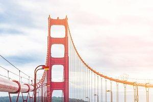 Golden Gate bridge tower