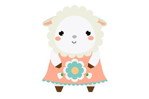 Cute sheep in dress