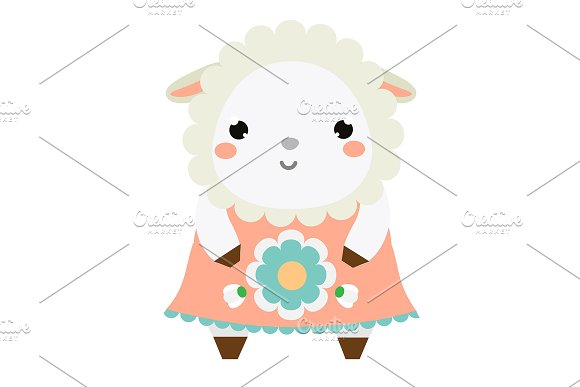 Cute Sheep In Dress