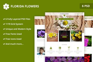 Florida Flowers PSD Website Template