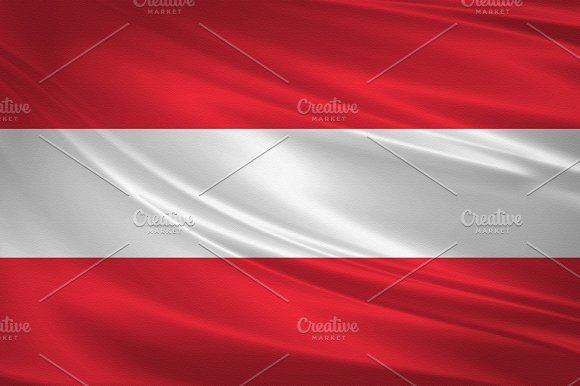 Austria Flag Blowing In The Wind