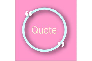 Quote circle on pink background