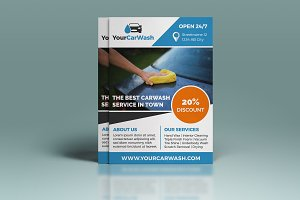 A5 Carwash Flyer