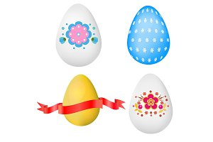 Realistic easter Eggs