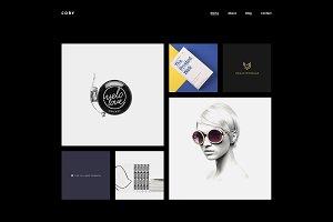 Cory Minimalist Dark Portfolio Theme