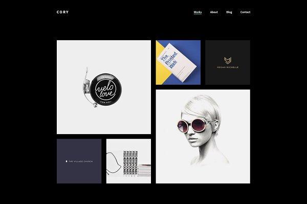 WordPress Minimal Themes - Cory Minimalist Dark Portfolio Theme