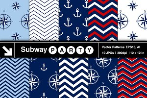 Vector Nautical Patterns