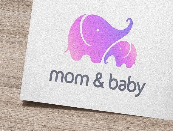 mom baby logo logo templates creative market