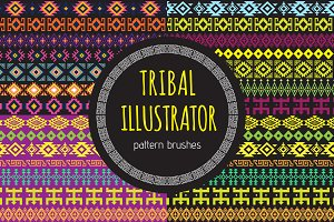Tribal Illustrator Pattern Brushes
