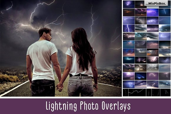 Lightning Photo Overlays