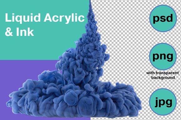 Blue Liquid Acrylic Background