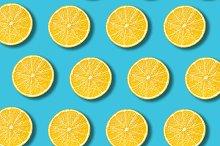 Pastel lemon slices pattern