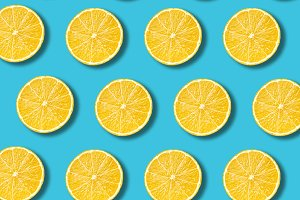 Pastel lemon slices pattern
