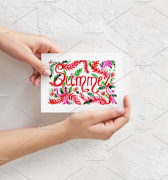 Summer Decorative Card