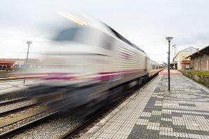 train talgo train station leaving