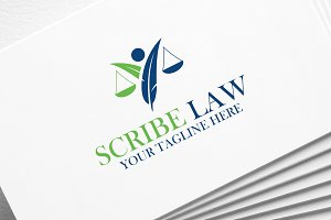 Scribe Law | Logo Template