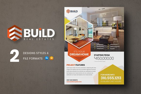 build real estate flyer flyer templates creative market