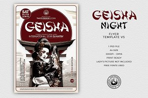 Geisha Night Flyer Template V5