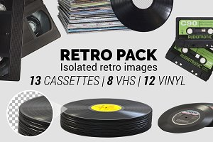 Retro Pack - Isolated Retro Images +