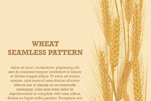 Ears of wheat vertical pattern