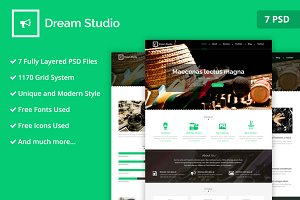 Dream Studio PSD Website Template