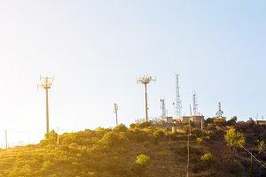 ANtennas receiver on hill
