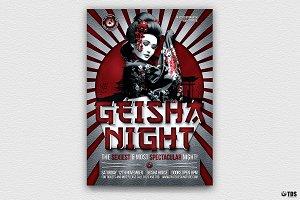 Geisha Night Flyer Template V6