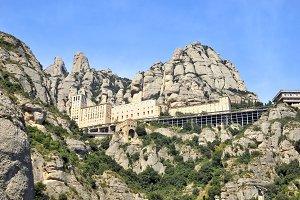 Panoramic view of Montserrat, Spain