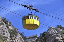 Yellow cablecar