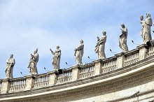 Vatican Statues, Italy, Rome