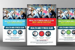 Health Fitness Girls Club Flyer