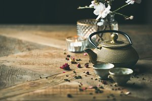 Traditional Asian tea ceremony