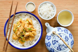 Chinese chicken with rice
