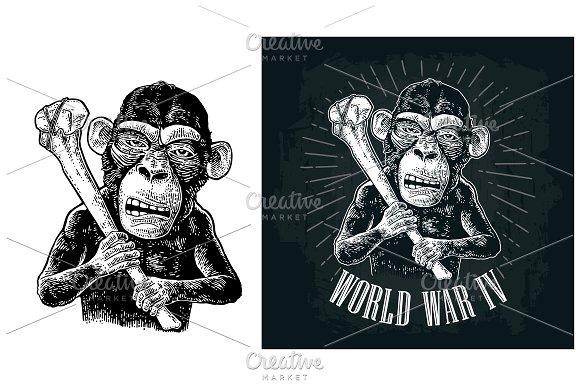 Monkey Holding Tibia World War IV