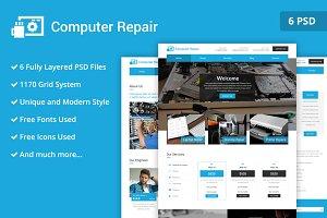 Computer Repairs PSD WebsiteTemplate