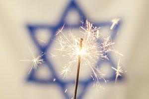 Israel Flag & Firework